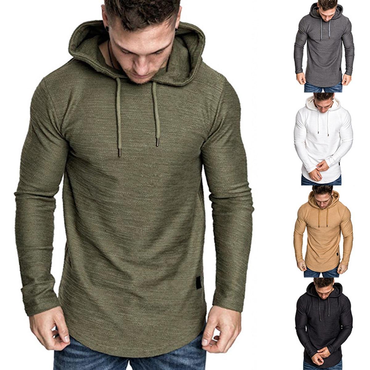 Mens Sweatshirt long Sleeve Autumn Spring Casual Hoodies Top Boy Blouse Tracksuits Sweatshirts Hoodies Men