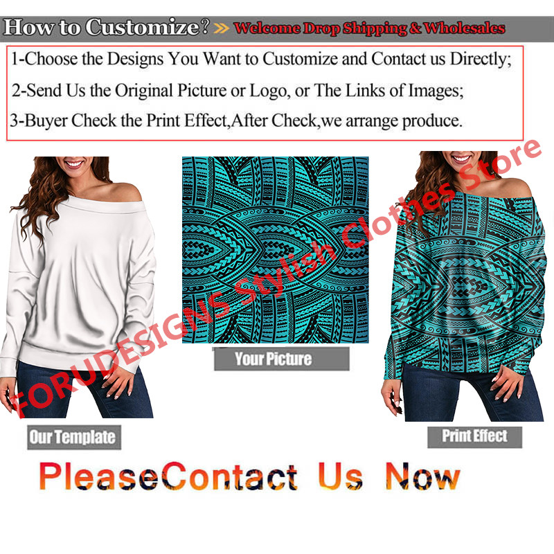 FOURDEIGNS Large Size Tops Russian Matryoshka Tops Casual Loose Long Sleeve Off Shoulder T-Shirt Boat Neck Female Clothing 2020