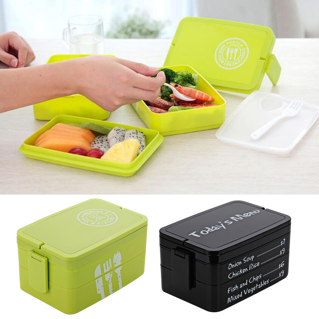 Double Layer European And American Style Lunch Box Microwave Container