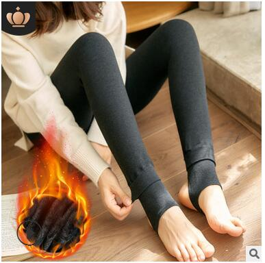 Hot New Fashion Women's Autumn And Winter High Elasticity And Good Quality Thick Velvet Pants Warm Leggings
