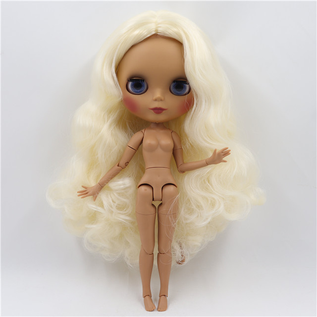 Neo Blythe Doll with Blonde Hair, Dark Skin, Matte Face & Jointed Body 1
