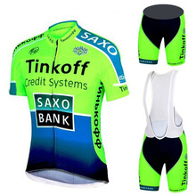2019 Saxo Bank Tinkoff Ropa Ciclismo/ciclo Ropa Ciclismo Ropa deportiva/bicicleta de carreras Ropa Ciclismo Jersey 9D bib shorts