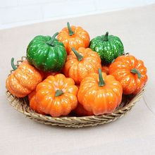 Halloween Artificial Pumpkin Mini Fake Vegetable Simulation Diy Craft Home Birthday Party Wedding Decoration