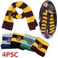 4 шт. детский и взрослый ожерелье Поттер гермион школьный шарф для мальчиков и девочек галстук Косплей дети женщины мужчины Хэллоуин Нового...