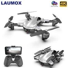 LAUMOX M76 RC Drone With 4K 1080P HD Dual Camera Optical Flow WiFi FPV Profissio
