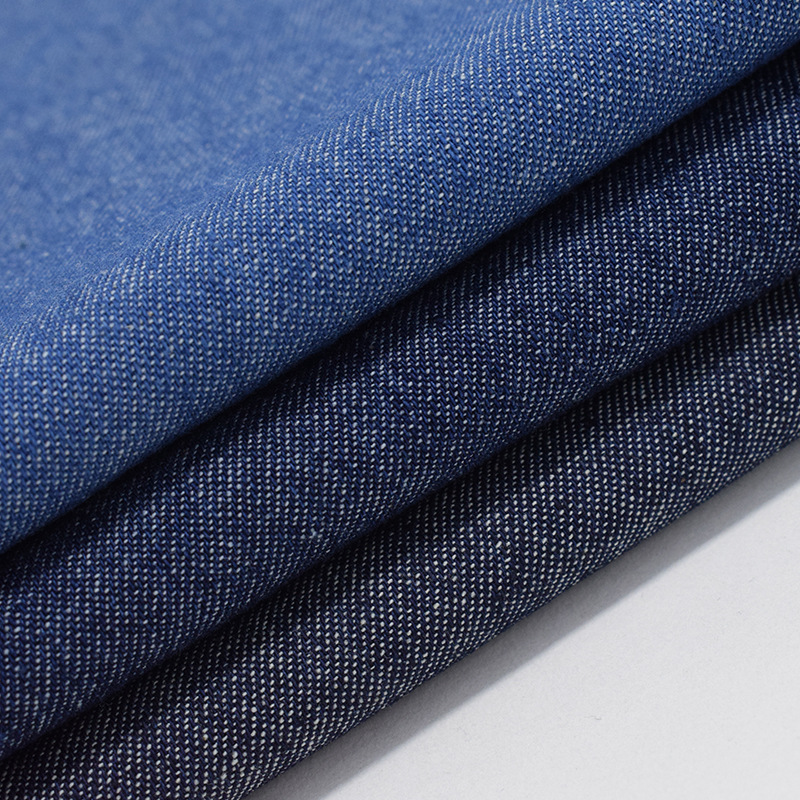 Factory wholesale cotton denim fabric washed twill woven 16S for jeans