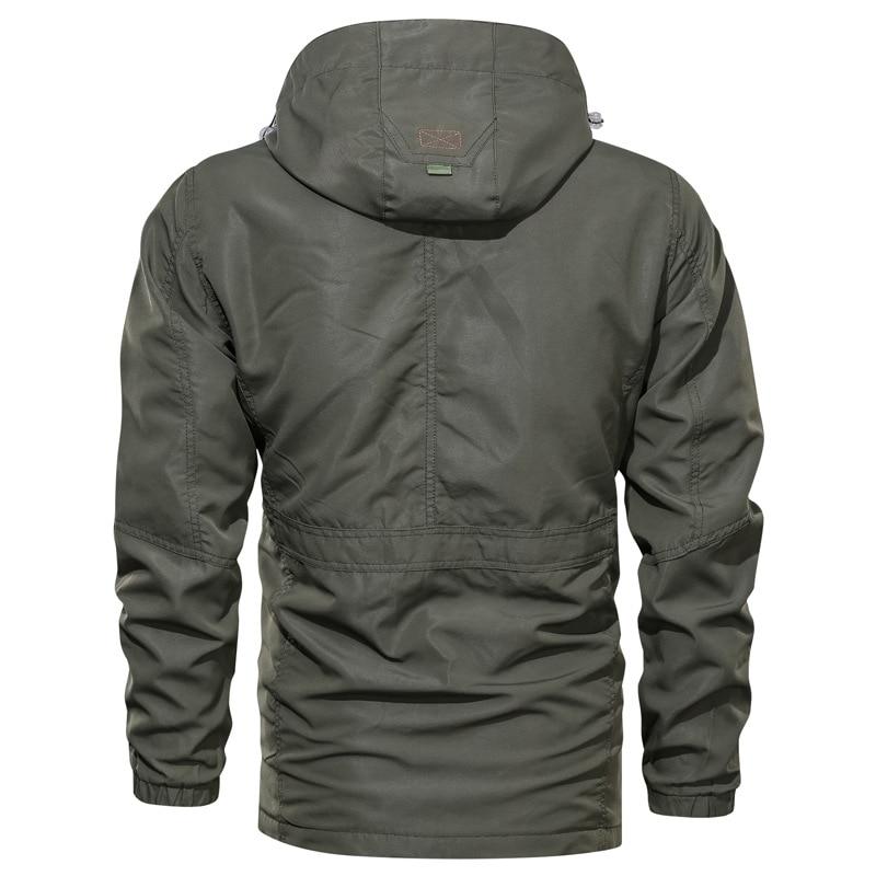 TACVASEN Jackets Men Autumn Thin Casual Hooded Jacket Waterproof Military Army Tactical Jackets Regular Fit Fashion Coats M-4XL