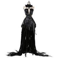 Anime cosplay Puella Magi Madoka Magica Akemi Homura Devil Black Dress Cosplay Costume A