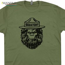 2019 Squatchy Sasquatch Tee Shirts Bigfoot Smokey The Appalachian Trail Bear Mountains Are Calling Cryptozoology Kids T-shirt