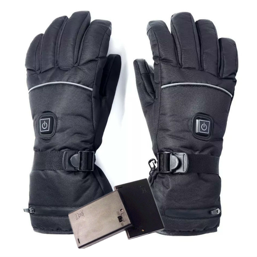Electric Heated Gloves With Temperature Adjustment Lithium Batteries Gloves For Skiing Hiking Climbing Driving Cold Weather