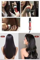 New 3 in1 Electric Hair Curler Hair Dryer Ionic Flat Iron Fast Heated Comb Hair Styling Brush Comb Volumizer Hot Air Brush Hair 3