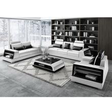 Вилла комбинация гостиной набор из натуральной кожи диван