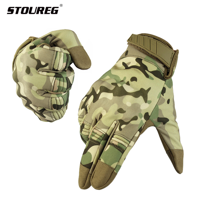 Waterproof Touch Screen Men's Gloves,Military Tactical Gloves,Full Finger Bicycle Gloves,Outdoor Sport Glove For Hunting Cycling 1