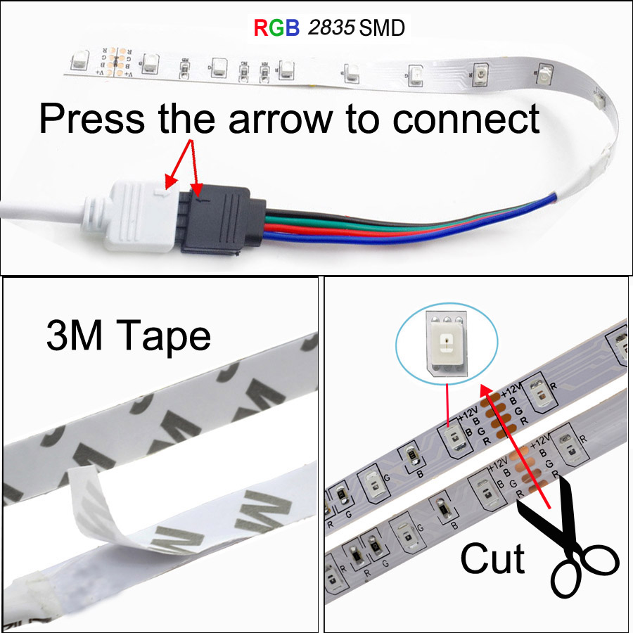 Hed6e5406bcd84737bf07012b9dcf30aao BEKCMTH RGB LED Strip Light SMD2835 5050 5M 10M Waterproof RGB Tape DC12V Ribbon diode led Strips Lamp with IR Remote Controller