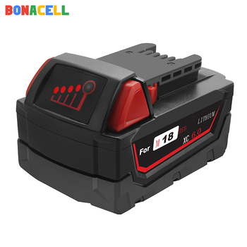 BONACELL 1PC For Milwaukee M18 6.0Ah 18V M18 PowerTools Rechargeable Li-ion Battery Replacement 48-11-1815 48-11-1850 48-11-1840