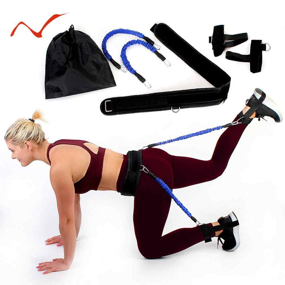 Fitness Resistance Band Body Exercise Belt Pull Rope Bounce Trainer Sports UK !