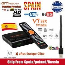 FHD 1080P Gtmedia V7S2X Satellite Receiver include usb wifi Digital Receptor gtmedia v7 s2x upgraded from gtmedia v7s hd no app