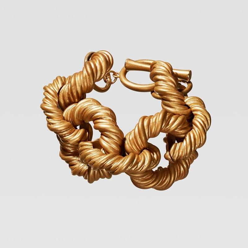 Dvacaman ZA, золотое ожерелье на цепочке, Чокеры для женщин, металлическое круглое звено, массивное ожерелье, s макси панк, модные вечерние ювелирные изделия - Окраска металла: 12