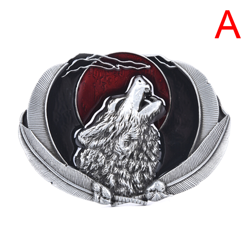 1pcs Fashion Zinc Alloy Animal Wolf Belt Buckle Suitable For 4cm Width Belt Diy Belt Mens Accories
