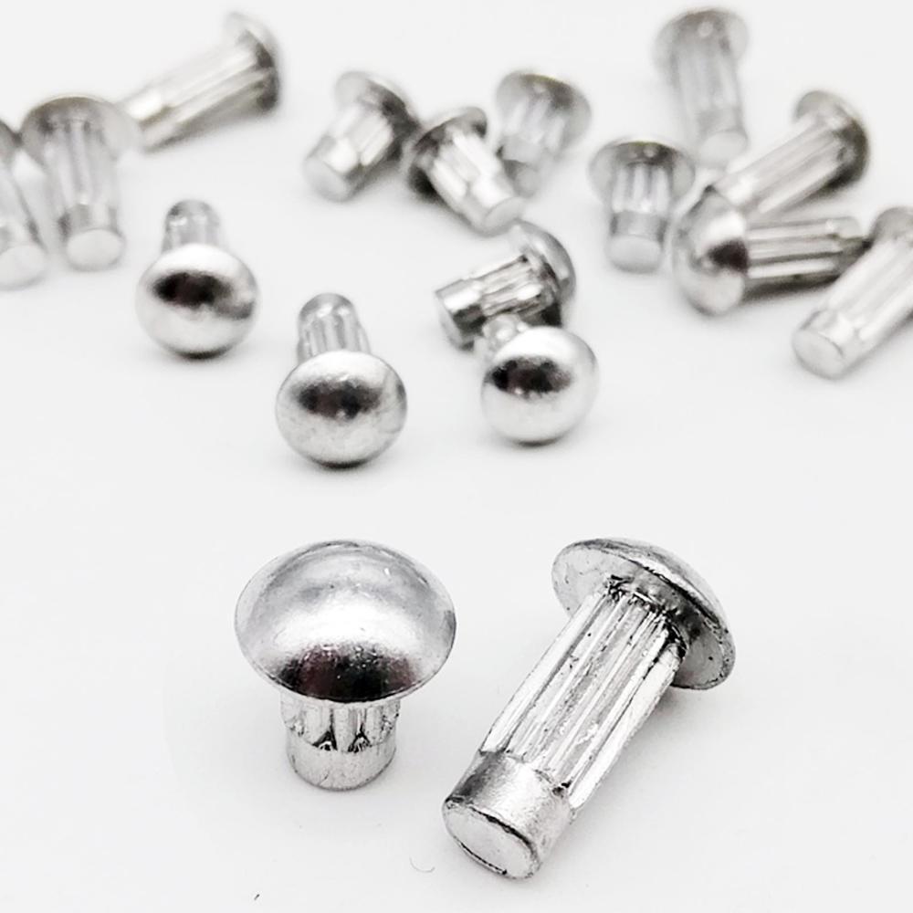 3mm Aluminium Rivets Round Head Solid Rivets Knurled GB827 2mm 2.5mm