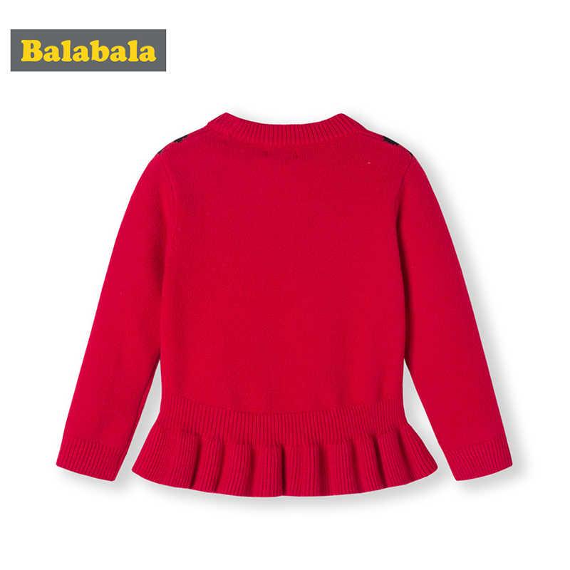 Balabala Ragazze maglioni di autunno e di inverno 2019 dei bambini del bambino girocollo a maniche lunghe maglione di stile Coreano