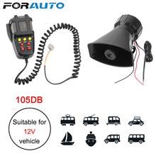 Altavoces con bocina para coche, sirena de policía, megáfono de aire, tono de emergencia para motocicleta, micrófono de 100W, amplificador de sistema PA