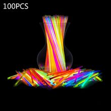 100 disposable glow sticks, concert colorful glow sticks, children's luminous br Y4UD