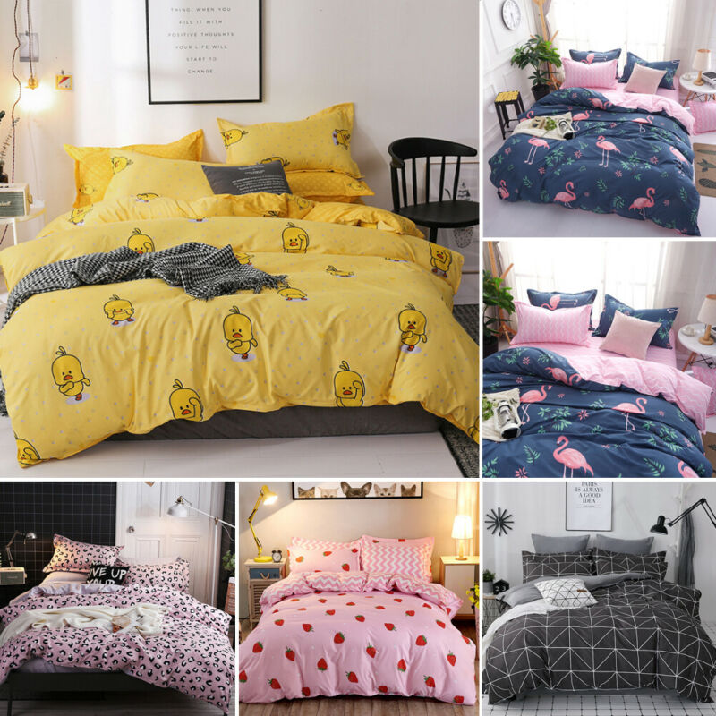 Satin Bedding Set Comforter Bedding Set Duvet Cover Bed Sheet Pillow Quilt Cover Single/Double/Queen Size Quilted 100% Cotton