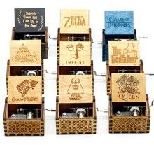 Старинная Деревянная музыкальная шкатулка Juego De Trono, королевская игра на трон, музыкальная тема Звездные войны, Музыкальная шкатулка с ручным управлением, подарки на день рождения