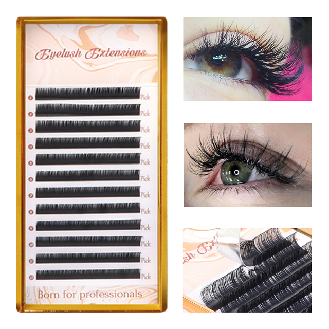 9 Faux Mink Eyelash Extension C D DD L Individual Eyelashes Matte Black Russian Volume Private Label Lashes Make Up Tools 1