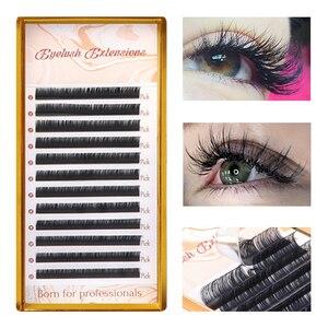 Image 2 - 9 Faux vison Extension de cils C D DD L cils individuels mat noir russe Volume marque privée cils maquillage outils