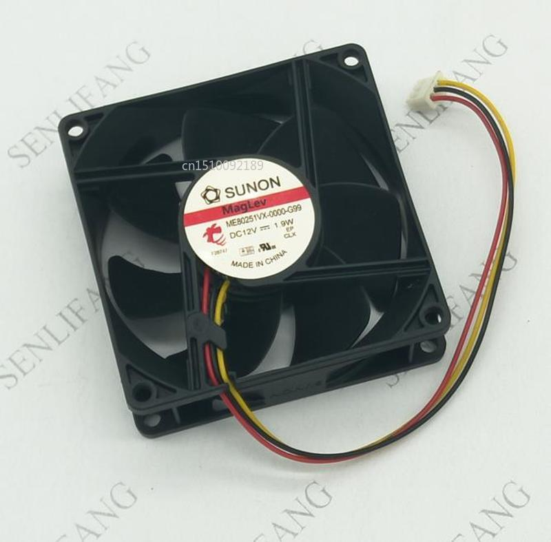Free Shipping ME80251VX-0000-G99 DC 12V 1.9W 8cm 3-Wire Server Cooling Fan