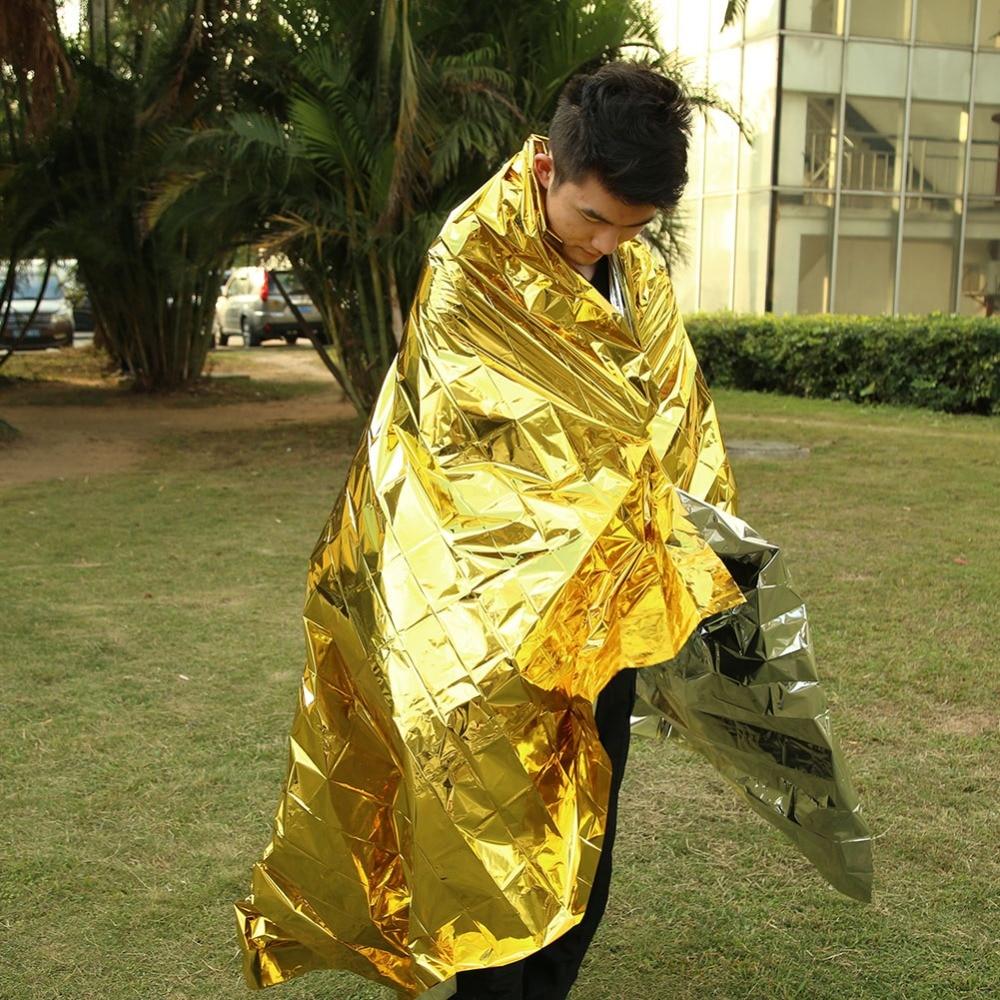 Mantas t/érmicas de Emergencia para Rescate t/érmico Plegables Equipo para preparaci/ón de terremotos Kit de Primeros Auxilios al Aire Libre TOPINCN para Tienda de campa/ña de Supervivencia Militar