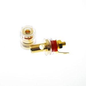 Image 2 - 1pair 33MM Banana Connector 4mm Thread Medium Amplifier Speaker Spade Terminal Binding Post Banana Plug Socket Connector