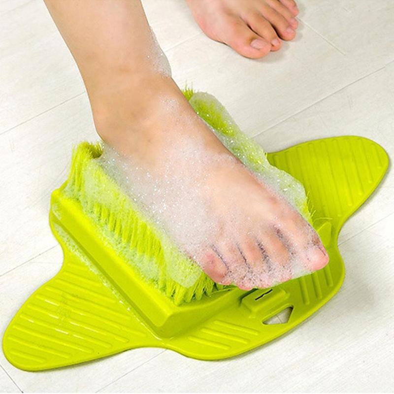 Plastic Bath Shower Foot Brush Scrubber Shoe Feet Massage Slippers Scrub Exfoliating Spa Remove Dead Skin