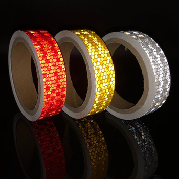Bicycle Accessories Reflective Bicycle Stickers Adhesive Tape For Bike Safety White Red Yellow Reflective Bike Stickers