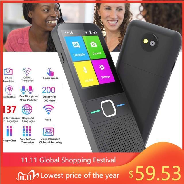 T10 Offline Voice Vertaler Smart Draagbare 137 Taal Real Time Vertaler Zonder Internet Inter Vertaling Machine