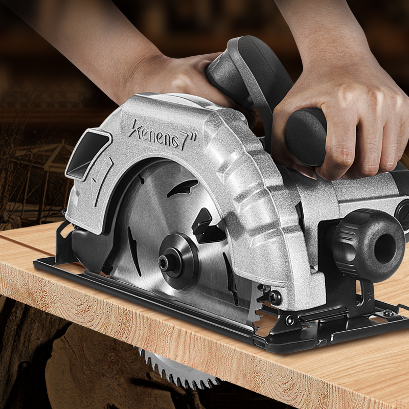 Woodworking Circular Saw 7 Inch Portable Electric Saw Cutting Machine Home Wood Chipper Can Be Flipped