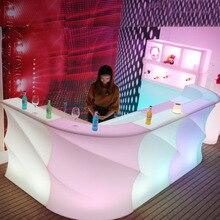 Светодиодный светильник, креативный, современный, Круглый, волнистый, цветной, дистанционный, для бара, KTV, вечерние, для бара, для украшения вашего бара, коммерческий
