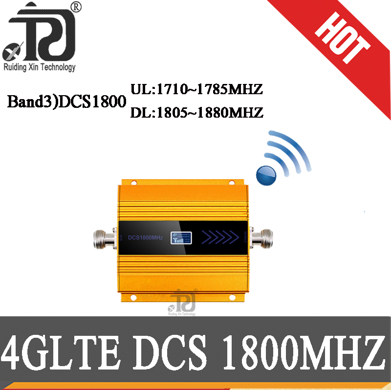 GSM LTE 1800 Mhz Mobile Signal Booster 68dB Gain 2g 4g Cell Phone Repeater DCS 1800MHz Mobile Phone Amplifier GSM Signal Booster