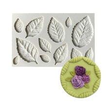 Sugarcraft葉シリコン金型キャンディケーキdecorationgツール作るgumpasteローズ腐葉土
