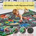 Светодиодный детский игровой коврик, детский игровой коврик, городская дорога, нескользящий коврик, коврик для гостиной, детский коврик, ко...