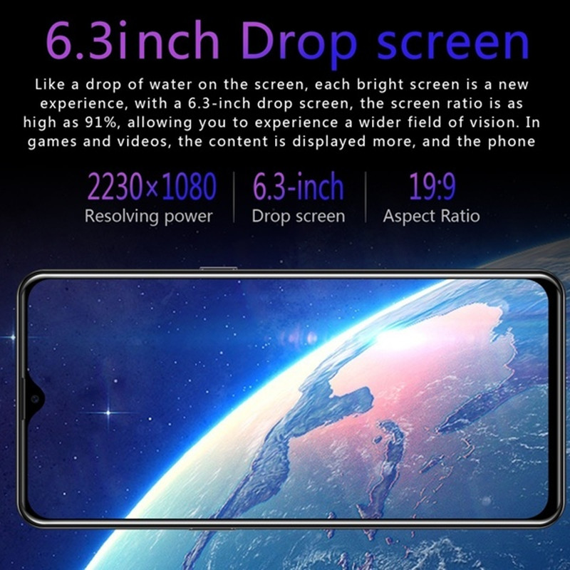 Global Version SOYES P30 Pro 2GB 32GB ROM MobilePhone Hexa core Android9.1 4800mAh Cellphone 6.3inch Waterdrop Screen Smartphone