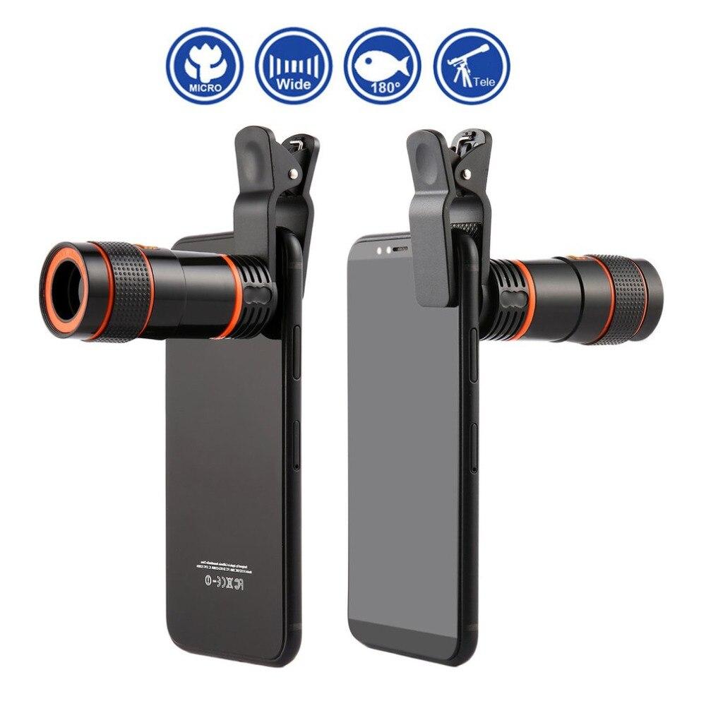 8x/12x мини с высоким увеличением Монокуляр телескоп с длинным фокусом объектив Универсальный для цифровой камеры мобильных телефонов