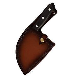 Image 3 - XYj couteau de boucher, fait main, couteau de cuisine de Chef, couperet en acier plaqué à haute teneur en carbone pour fileter, housse de couteau cadeau