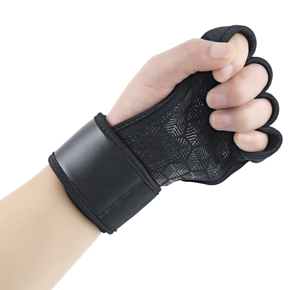 1 Pair Daily Protective Wrist Support Gym Fitness Gloves Outdoor Anti Slip Training Portable Breathable Building Weight Lifting