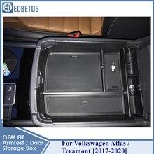 Atlas Armrest Box For Volkswagen Teramont Atlas Stowing Tidying Storage Organizer For Volkswagen Internal Accessories 2017 2020