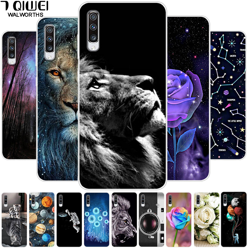 Phone Case For <font><b>Samsung</b></font> Galaxy <font><b>A70</b></font> 2019 Case Silicone Soft Lion TPU Cover For <font><b>Samsung</b></font> <font><b>A70</b></font> Case A 70 A705F 6.7 Cute Cat <font><b>Hoesje</b></font> image