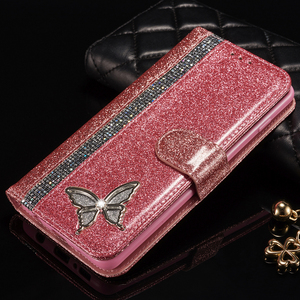 Suitable for Samsung Galaxy S20 Ultra S10 E S9 Plus A21S A41 glitter leather case A71 A51 Note10 Note10Pro flip phone case