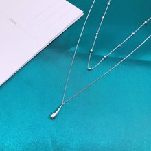 Two layers Charms Overall Sterling Silver 925 Original Luxury Pendants Necklace Women Cross Chain Fine Craftsmanship Jewelry